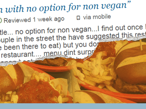 Vegan restaurant brilliantly responds to a review complaining they don't serve meat