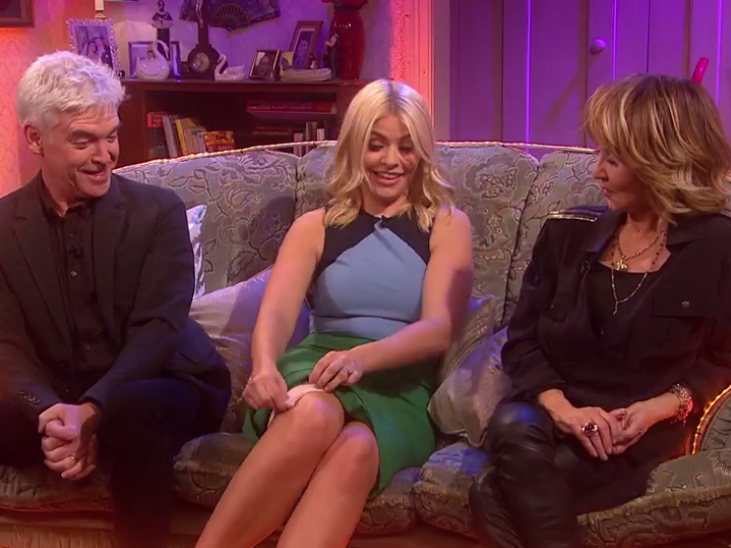 Holly Willoughby flashes her Spanx and talks penises on All Round To Mrs Brown's