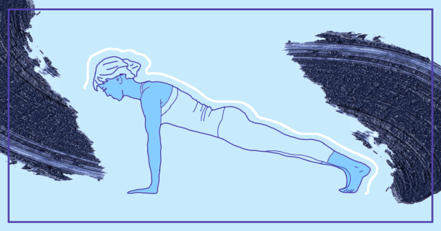 Illustration of woman doing a plank pose