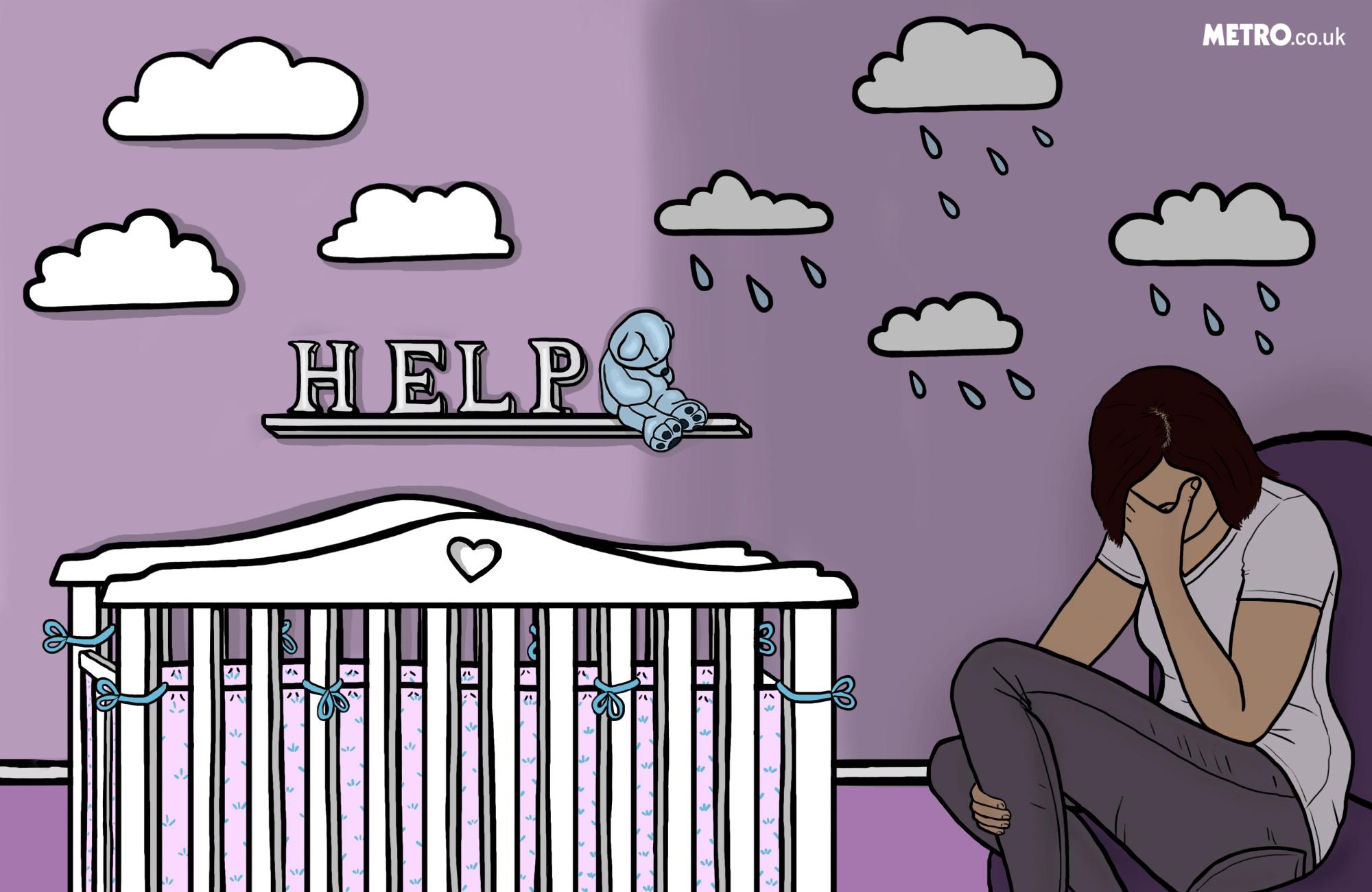 Emily-Jane Clark talks post-natal depression on Mentally Yours (Picture: Deirdre Spain for Metro.co.uk)