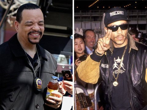 Law and Order: SVU's Ice-T pictured drinking iced tea in a completely meta move