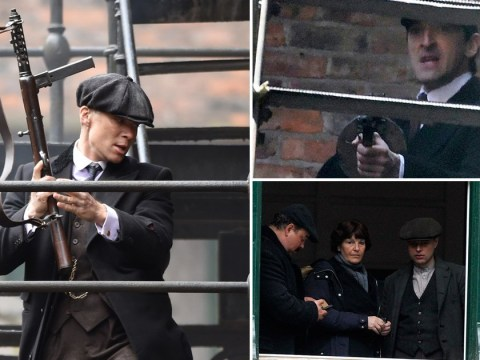 Adrien Brody and Cillian Murphy seen filming tense and fully loaded Peaky Blinders scenes