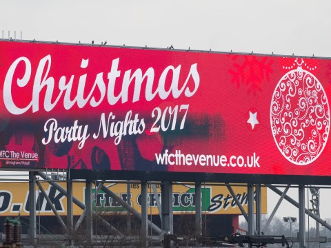 A Christmas advert has already gone up on the M6 motorway