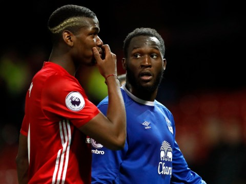 Romelu Lukaku in huge bust-up with Ashley Williams in Everton's draw with Manchester United