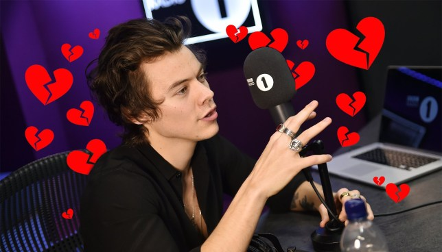 b0868c86b Harry Styles has sent a heartfelt message to BFF Nick Grimshaw for helping  launch his single Sign Of The Times (Picture: BBC Radio 1)