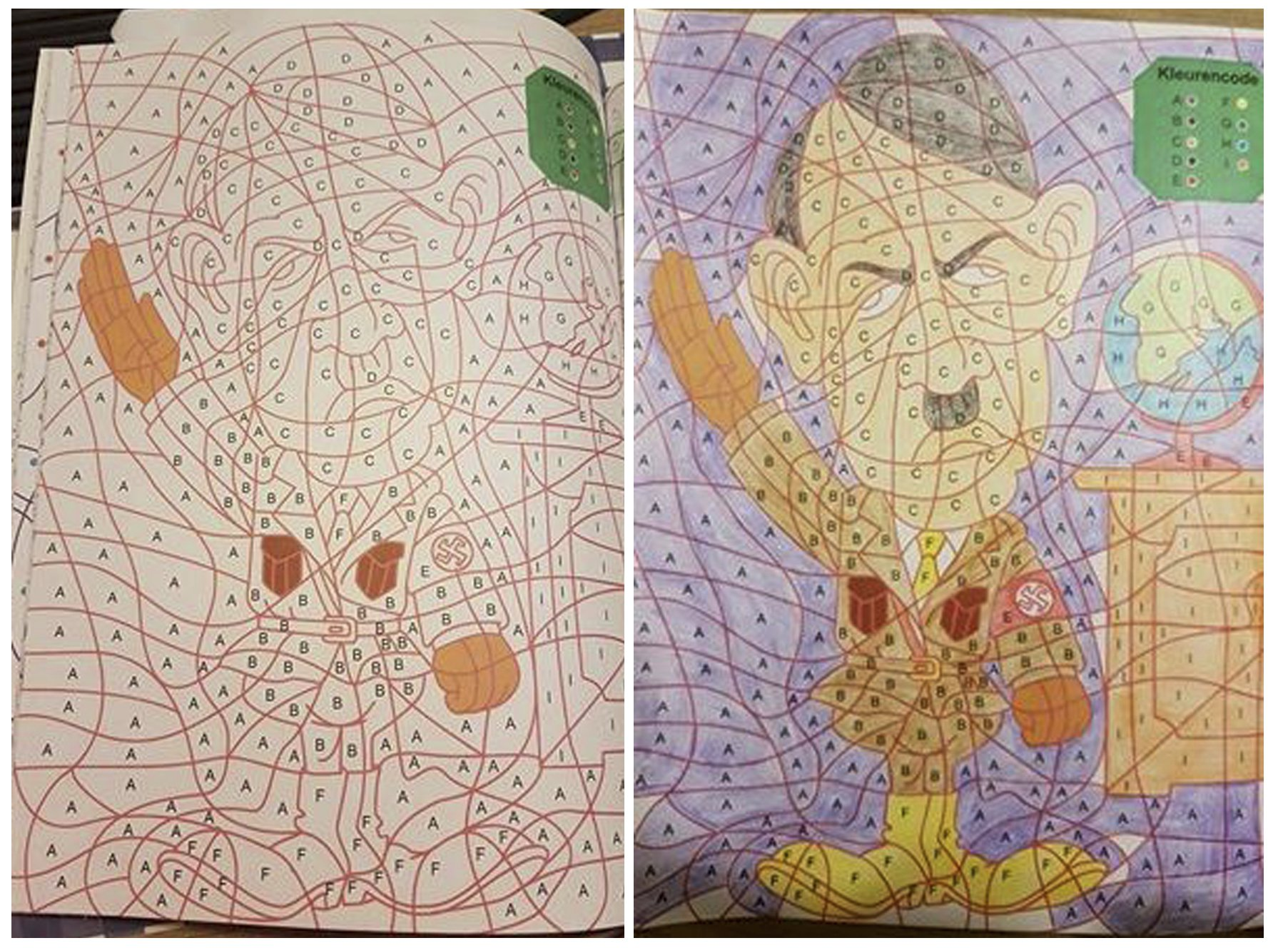 Children's colouring book accidentally includes picture of Hitler