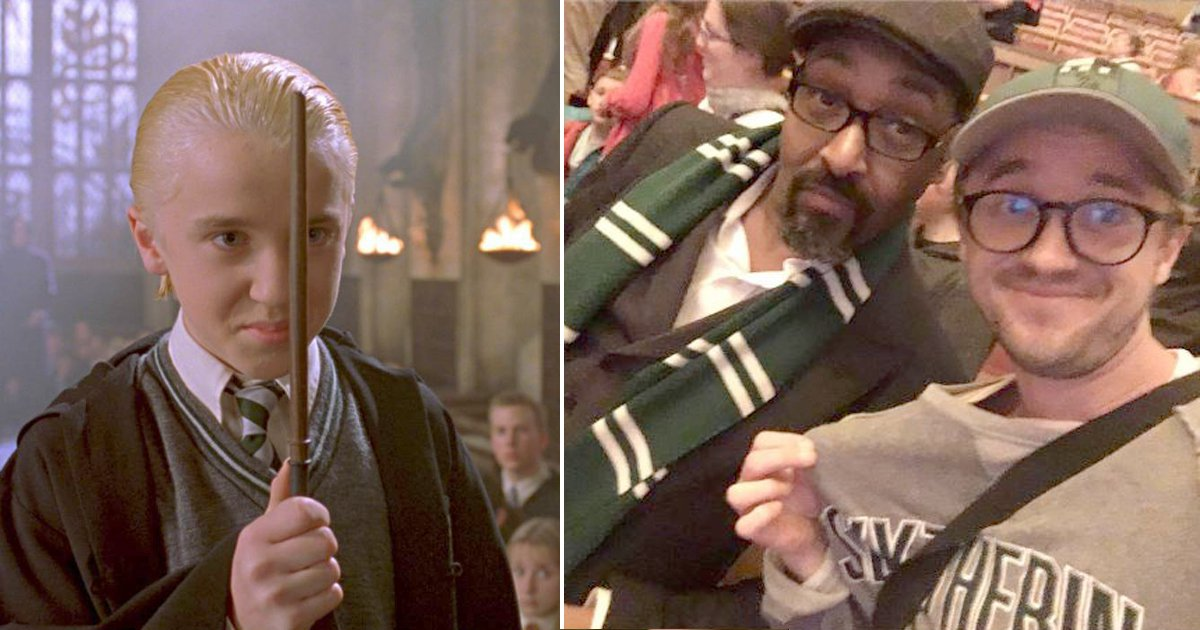 Harry Potter actor Tom Felton is still Team Slytherin all the way