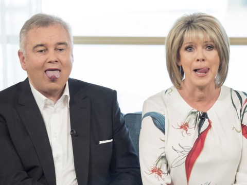 Ruth Langsford and Eamonn Holmes' tongue game is strong while 'singing' national anthem