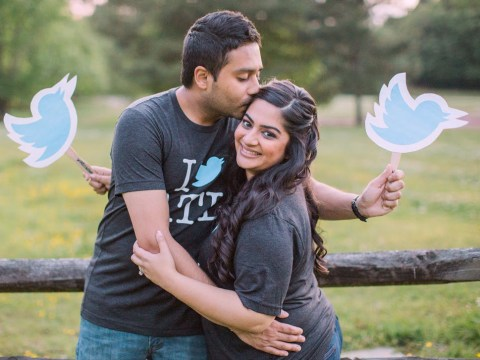 A couple who met on Twitter had a glorious Twitter-themed wedding