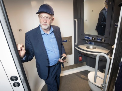 We don't know why Jeremy Corbyn was posing next to a toilet