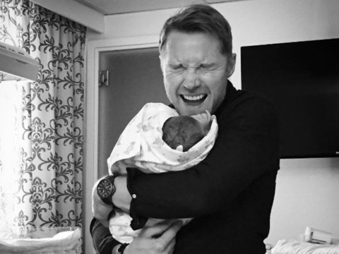 'We're all bursting with love': Ronan Keating shares adorable photo of newborn son