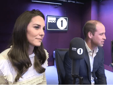 Prince William says he texted Radio One anonymously and got a shout out