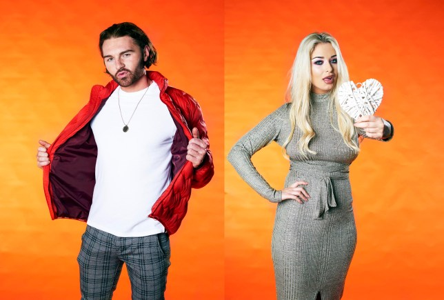 First Dates viewers didn't believe Frankie (L) was a model during his date with Zoe (R) (Picture: Channel 4)