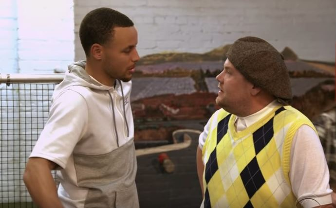 James Corden took Stephen Curry to play mini-golf and they had the time of their life