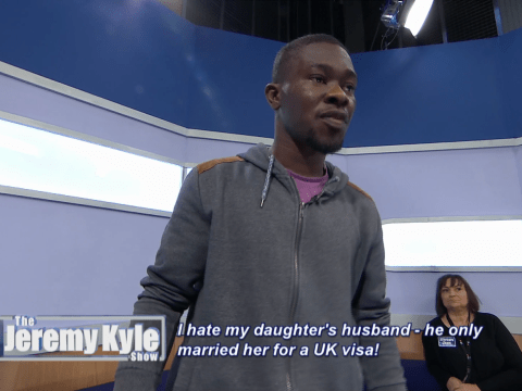 Jeremy Kyle flies after cheating guest who changed his baby's name without telling his own wife
