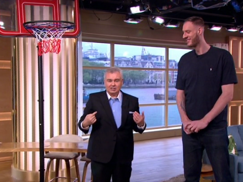 Britain's tallest man leaves This Morning viewers intrigued by his size 19 shoe size
