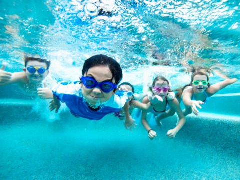 The 56 (frustrating) steps of taking your children swimming