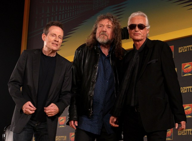 John Paul Jones, Robert Plant and Jimmy Page (L-R) of Led Zeppelin are rumoured to be considering a reunion (Picture: Getty Images)
