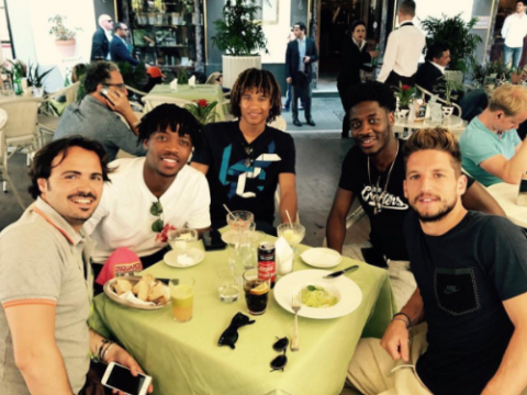 Chelsea transfer target Dries Mertens has lunch with Nathaniel Chalobah, Nathan Ake and Ola Aina