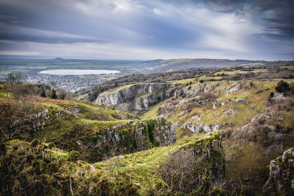 View from the top of Cheddar gorge (Picture: Getty)