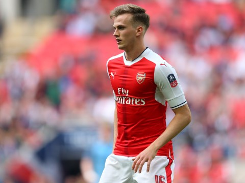 Arsenal's Danny Welbeck offers advice to Rob Holding ahead of FA Cup final vs Chelsea