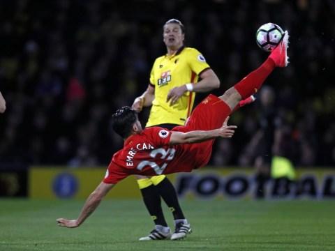 Liverpool legend Jamie Carragher praises stunning Emre Can overhead kick v Watford