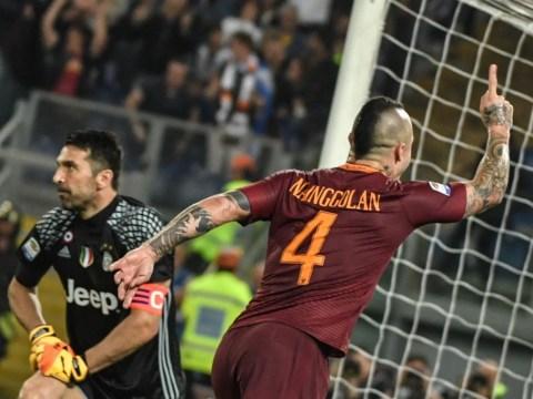Chelsea scouts watch Antonio Rudiger and Radja Nainggolan during Roma's 3-1 win over Juventus