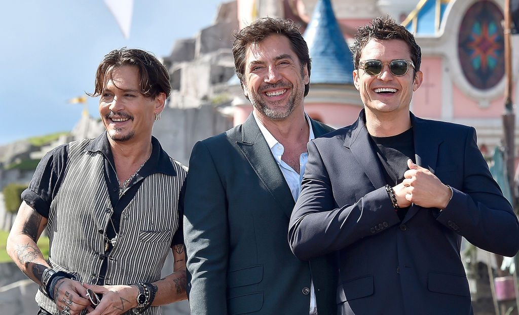 Johnny Depp and Orlando Bloom look nothing like pirates as they hit Disneyland for Pirates Of The Caribbean premiere