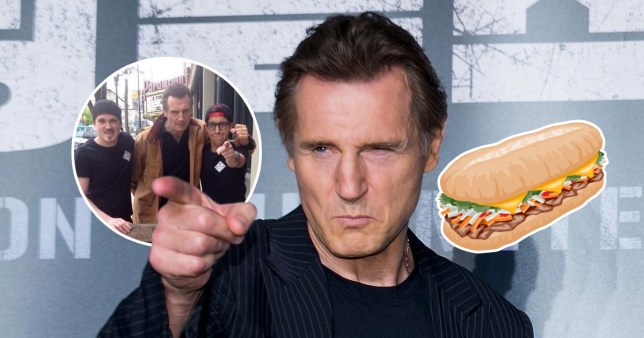 Liam Neeson made a surprise visit to a Canadian sandwich shop (Picture: Big Star Sandwich Co/Facebook/Getty)