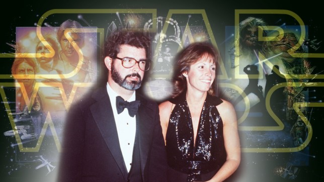 George and Marcia Lucas (Picture: Rex Features; LucasFilm)
