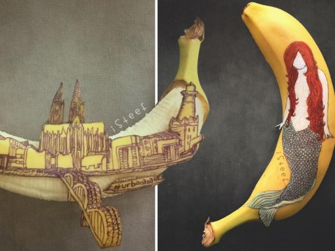Artist creates the most amazing artwork using just a pen and a banana