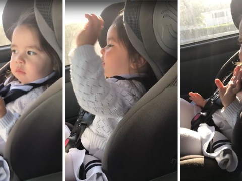 This toddler is definitely a better dancer than you