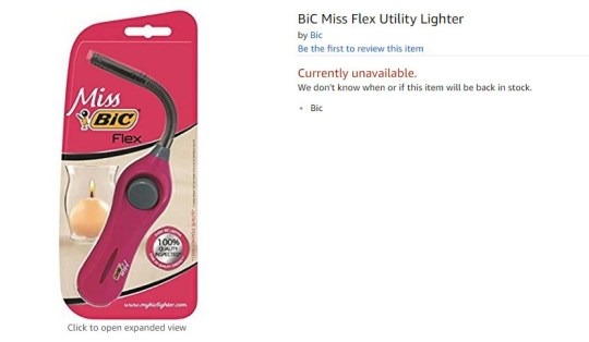 Bic made a special pink lighter to help women light candles
