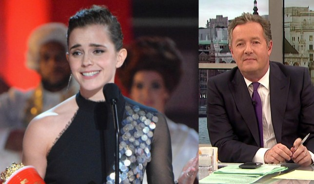 Piers Morgan has launched an epic rant on gender after Emma Watson accepts the first gender neutral Best Actor gong at the 2017 MTV Movie And TV Awards (Picture: ITV/FilmMagic)