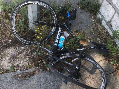 Chris Froome 'deliberately rammed by car' while cycling in France