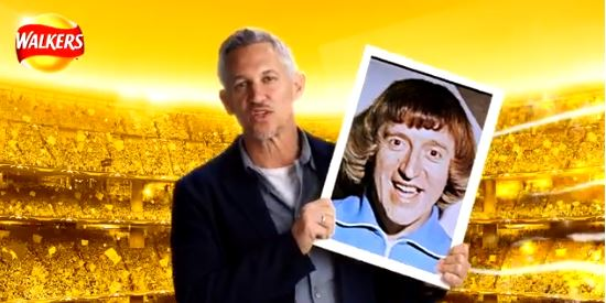 Gary Lineker 'poses' with Jimmy Savile after #WalkersWave PR stunt goes wrong