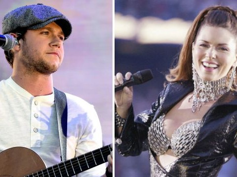 Shania Twain gives Niall Horan a lesson in country music during studio session
