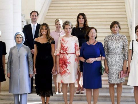 Husband of Luxembourg's gay prime minister joins Nato leaders' wives in photo