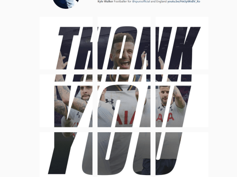 Kyle Walker posts thank you message to Tottenham fans on Instagram amid transfer rumours