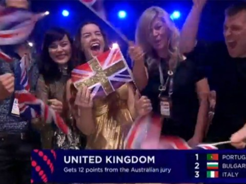 Australia gave the United Kingdom 12 points in the voting and it was an awesome moment