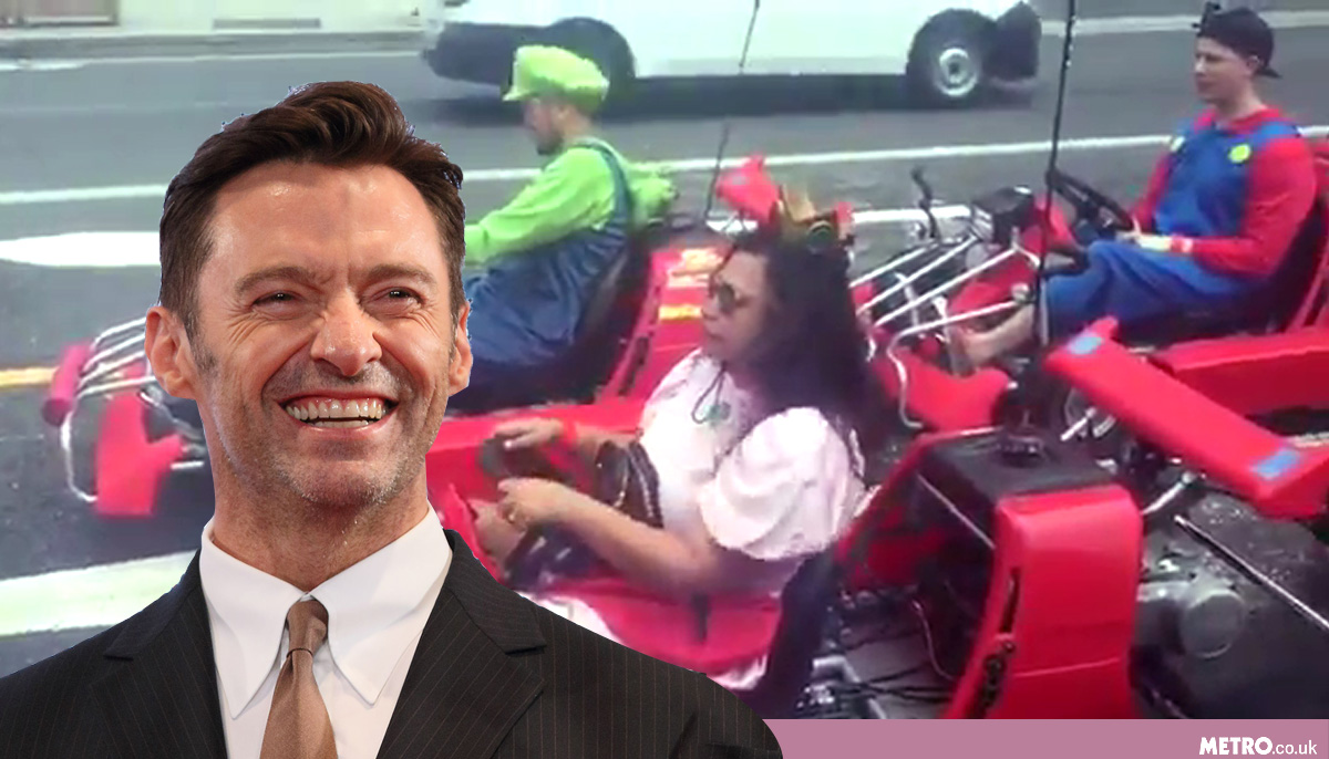 Hugh Jackman discovers real-life Mario Kart and he's buzzing