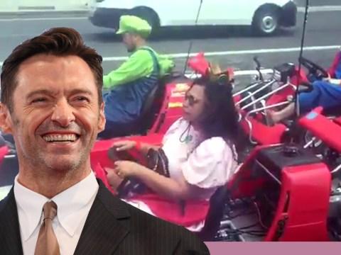 Hugh Jackman discovers real-life Mario Kart and he's buzzing