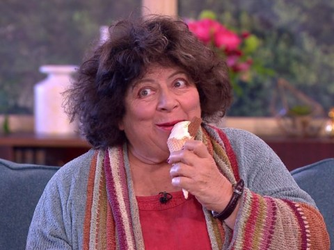 Holly Willoughby and Phillip Schofield in hysterics as Miriam Margolyes 'passionately' eats ice cream mid-interview on This Morning