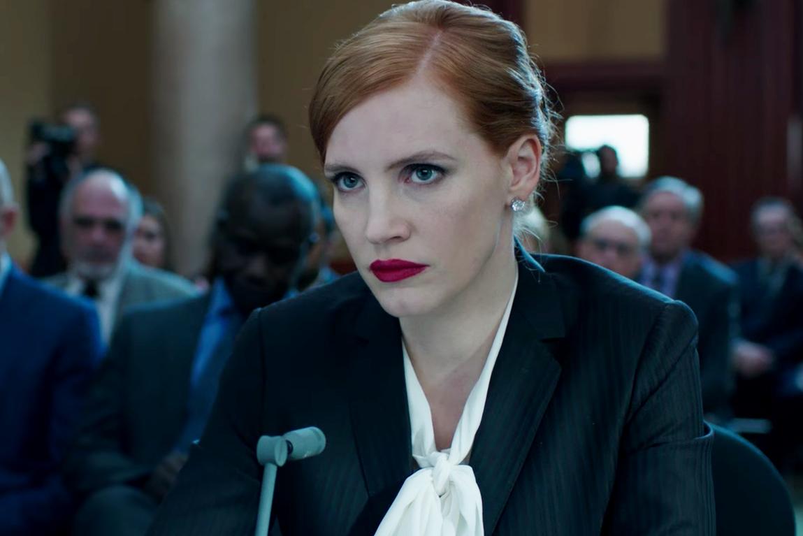 Jessica Chastain: 'We've never deemed male characters like Miss Sloane sociopaths'
