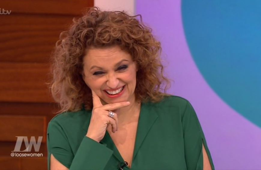 Nadia Sawalha cringes as sounds of her snoring are blasted out on Loose Women