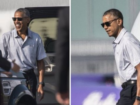 Barack Obama is in the UK everyone and he is looking as smooth as ever