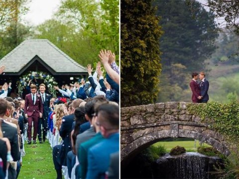 Tom Daley and Dustin Lance Black share stunning first wedding photos (and deny THAT Romeo and Juliet rumour)