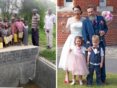 This couple asked their wedding guests for donations to fund a fresh water well in a poverty-stricken village in Uganda