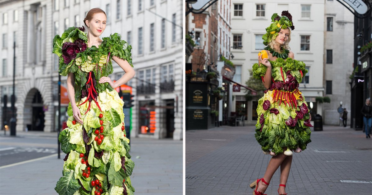Greggs celebrated its new salads by making women wear vegetable outfits, of course