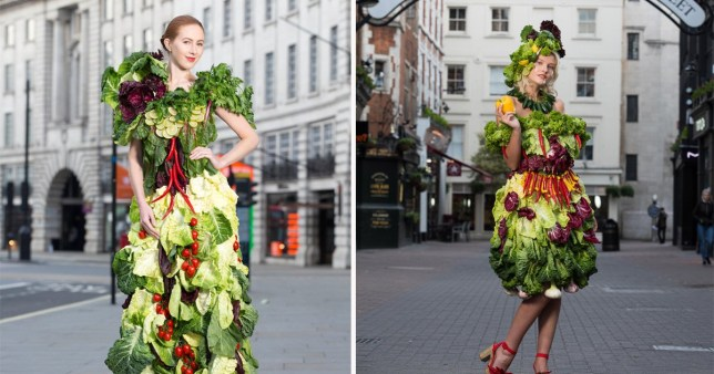Greggs are doing salads now so they made women wear some vegetable outfits